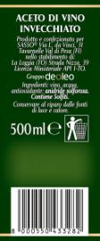 Aceto di vino Bianco, Witte wijnazijn, Sasso, 500 ml