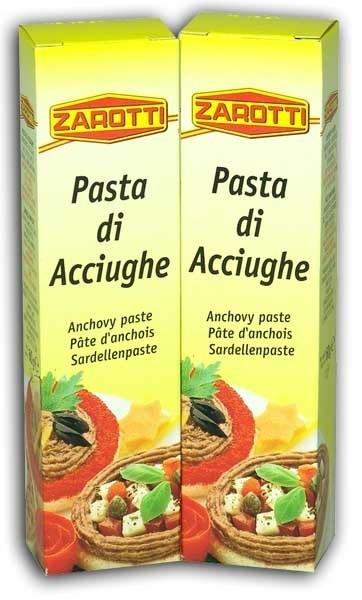 Ansjovispasta, Pasta di Acciughe, tube 60 gr, Zarotti
