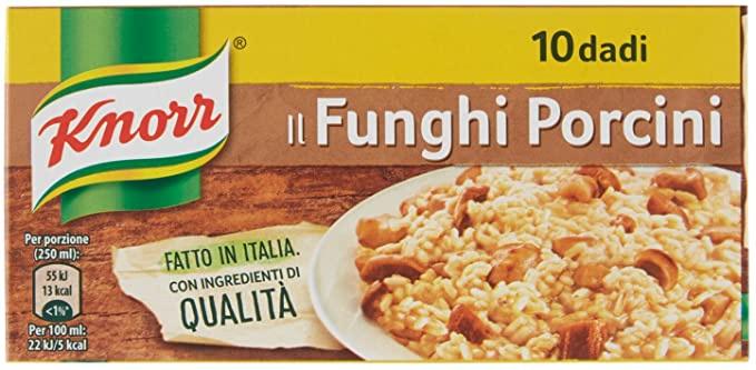 Bouillonblokjes Funghi Porcini, Knorr Italia