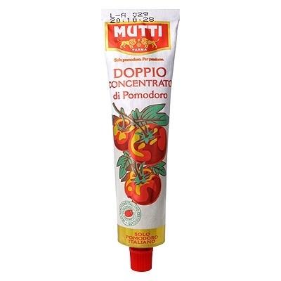 Mutti Doppio Concentrato, tomatenpuree, tube