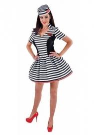 Boeven jurkje zwart/wit