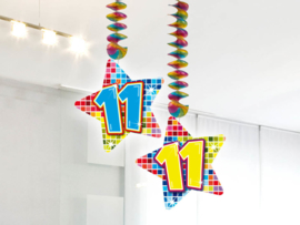 Hangdecoratie 11 jaar blocks