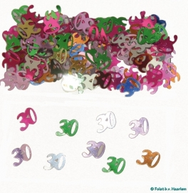Tafeldecoratie/sier-confetti 30