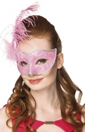 Venetiaans masker Allegro pink
