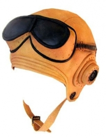 Piloten muts met bril