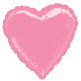 Folieballon hart roze incl. helium