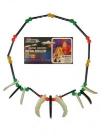 Indianenketting kralen+tanden