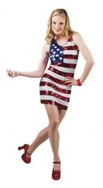 Amerikaans paillet jurkje