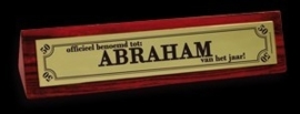 Desk sign - abraham