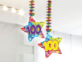 Hangdecoratie 100 jaar blocks