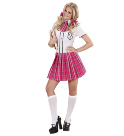 Naughty schoolgirl outfit pink