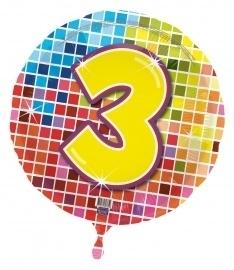 3 jaar folieballon blocks incl.