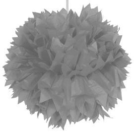Zilveren pom pom 30 cm
