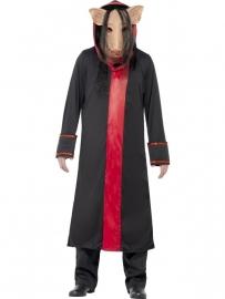 Jigsaw pig kostuum