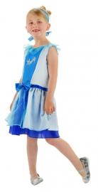 Blauwe Assepoester jurk