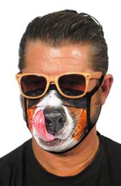 Mondkapjes met grappige hond print