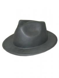 Zwarte Al capone hoed vinyl