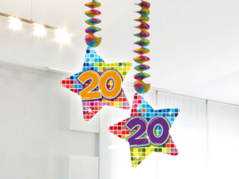 Hangdecoratie 20 jaar blocks