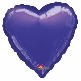 Folieballon hart paars excl. helium