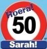 Huldebord / deurbord - 50 jaar / Sarah