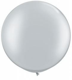 Ballonnen 3ft zilver metallic