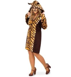 Tijger print jurk hooded