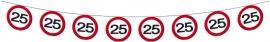 Slinger 25 jaar verkeersbord