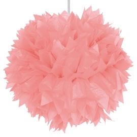 Roze pom pom 30 cm