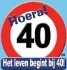 Huldebord / deurbord - 40 jaar