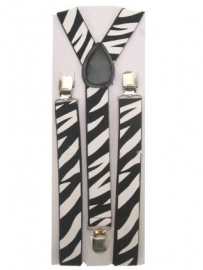 Bretels dierenprint zebra