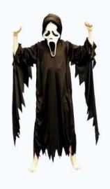 Scream kostuum zwart
