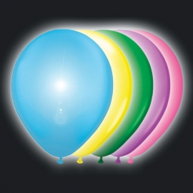 Ballonnen multi color met led