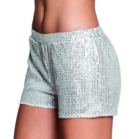 Hotpants sequins zilver