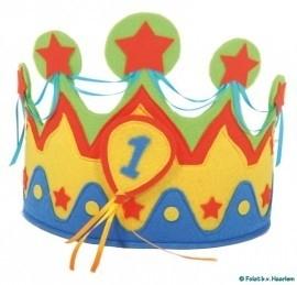 Koning(in) muts met vilt 1 t/m 5 jaar
