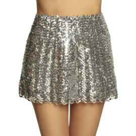 Mini kleedje pailletten zilver