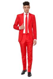 Solid red suitmeister kostuum