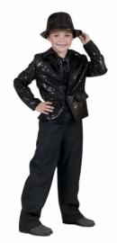 Glitter jasje / colbert zwart