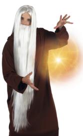 Tovenaars pruik met baard