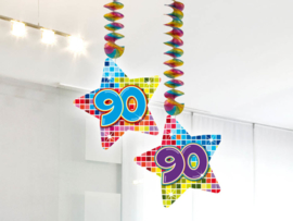 Hangdecoratie 90 jaar blocks