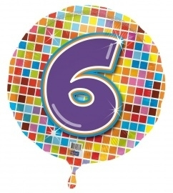 6 jaar folieballon blocks incl.