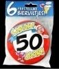 Fun Bierviltjes 50 jaar sarah
