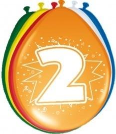 Ballonnen 2 jaar (assorti kleuren)
