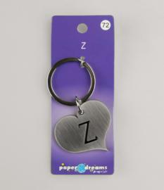 Metalen sleutelhanger Z
