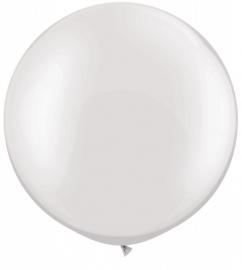 Ballonnen 3ft white metallic