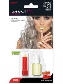 Blacklight lippenstift en nagellak