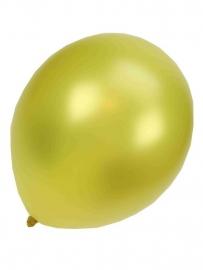 Kwaliteitsballon metallic geel 50 stuks