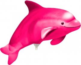 Dolfijn mini shape folieballon roze