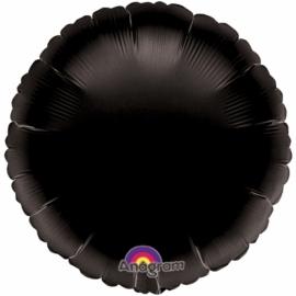 Ronde helium ballon zwart excl.
