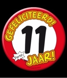 XL button 11 jaar