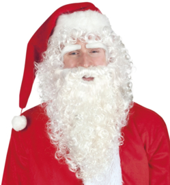 Kerstmannen baard en pruik lang